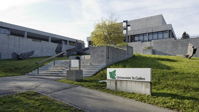 Stairs to the University of St.Gallen (HSG) main building